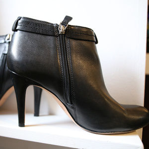 Coach Black Leather Stiletto Booties, Size 8